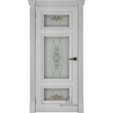 Дверь RegiDoors Мадрид ДО Perla с витражом Мираж