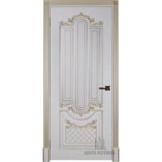 Дверь RegiDoors Александрия 2 ДГ Эмаль Слоновая кость с золотой патиной