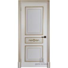 Дверь RegiDoors Лацио ДГ Эмаль Слоновая кость с золотой патиной