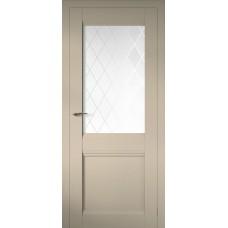 Дверь эмалит Regidoors Cobalt 12 ДО Магнолия стекло Ромб