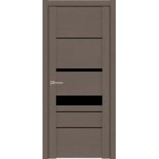 Дверь Uberture 30023 Софт Тортора черное стекло