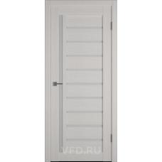 Дверь ВФД GLAtum X11 Беленый дуб стекло сатинат белый