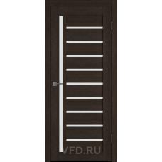 Дверь ВФД GLAtum X11 Венге стекло сатинат белый