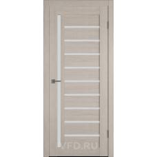 Дверь ВФД GLAtum X11 Капучино стекло сатинат белый