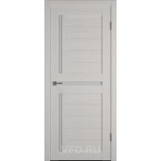Дверь ВФД GLAtum X16 Беленый дуб стекло сатинат белый