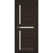 Дверь ВФД GLAtum X16 Венге стекло сатинат белый