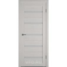 Дверь ВФД GLAtum X7 Беленый дуб стекло сатинат белый