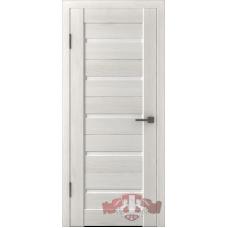 Дверь ВФД Line Л1ПГ5  Беленый дуб стекло ультра белое