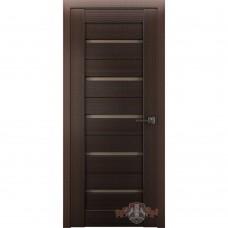 Дверь ВФД Line Л1ПГ4  Венге стекло бронза сатинат