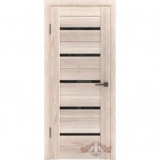 Дверь ВФД Line Л1ПГ1  Капучино стекло ультра черное