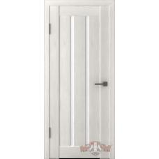 Дверь ВФД Line Л2ПГ5  Беленый дуб стекло ультра белое