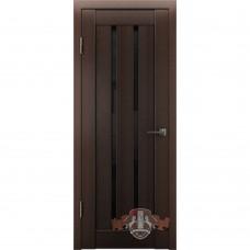 Дверь ВФД Line Л2ПГ4  Венге стекло ультра черное
