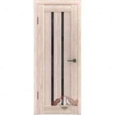 Дверь ВФД Line Л2ПГ1  Капучино стекло ультра черное