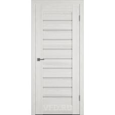 Дверь ВФД Line Л3ПГ5  Беленый дуб стекло ультра белое