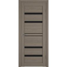 Дверь ВФД Atum Pro 26  Brun Oak непрозрачное окрашенное стекло лакобель черного цвета