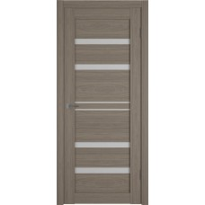 Дверь ВФД Atum Pro 26  Brun Oak стекло сатинат белый