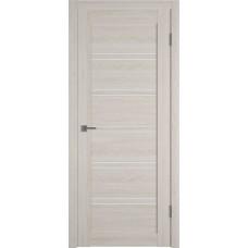 Дверь ВФД Atum Pro 28 Scansom Oak стекло сатинат белый