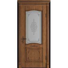 Дверь ВФД Classic Art Vesta Honey Classic с патиной стекло сатин. белое