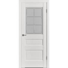 Дверь ВФД Classic Trend Trend 3 Polar Soft со стеклом сатинат с алмазной гравировкой