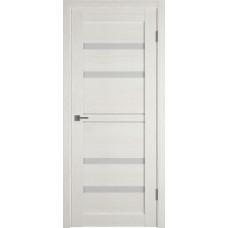Дверь ВФД Light 26 Latte стекло сатинато белое