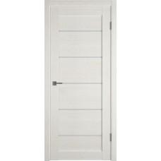 Дверь ВФД Light 27 Latte стекло сатинато белое