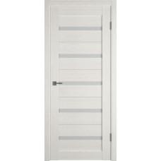 Дверь ВФД Light 7 Latte стекло сатинато белое