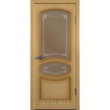 Дверь ВФД Standart Версаль 13ДР1 Светлый дуб стекло бронза сатинат