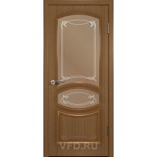 Дверь ВФД Standart Версаль 13ДР3 Орех стекло бронза сатинат