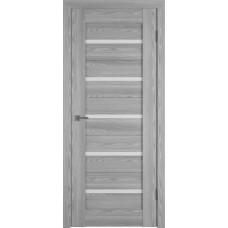 Владимирская дверь ВФД Line Л1ПГ2 Grey oak стекло ультра белое