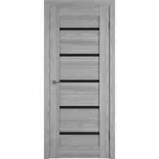 Владимирская дверь ВФД Line Л1ПГ2 Grey oak стекло ультра черное