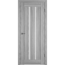 Владимирская дверь ВФД Line Л2ПГ2 Grey oak стекло ультра белое