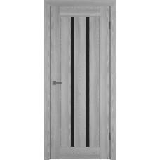 Владимирская дверь ВФД Line Л2ПГ2 Grey oak стекло ультра черное