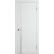 Дверь эмаль ВФД Stockgolm Ньюта1 69ДО0 эмаль белая стекло белый лакобель