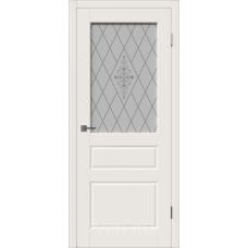 Владимирская дверь ВФД Зимняя коллекция Chester 15ДО01 Ivory стекло матовые полосы