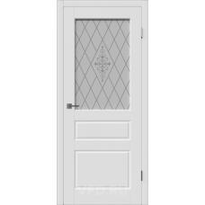 Владимирская дверь ВФД Зимняя коллекция Chester 15ДО0 Polar стекло матовые полосы