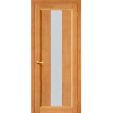 Дверь массив сосны BRAVO ViLARIO Вега-18 ДО Т-30 Светлый орех со стеклом Кризет