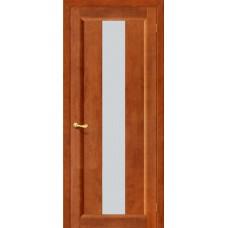 Дверь массив сосны BRAVO ViLARIO Вега-18 ДО Т-31 Темный орех со стеклом Кризет