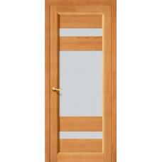 Дверь массив сосны BRAVO ViLARIO Вега-2 ДО Т-30 Светлый орех со стеклом Кризет
