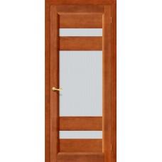 Дверь массив сосны BRAVO ViLARIO Вега-2 ДО Т-31 Темный орех со стеклом Кризет