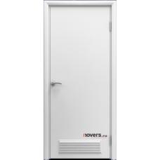 Дверь пластиковая Aquadoor (Аквадор) Белый с вентиляционной решеткой