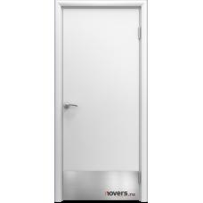 Дверь пластиковая Aquadoor Белый с отбойной пластиной