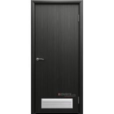 Дверь пластиковая Aquadoor (Аквадор) Дуб венге с вентиляционной решеткой
