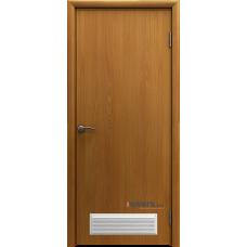 Дверь пластиковая Aquadoor Миланский орех с вентиляционной решеткой