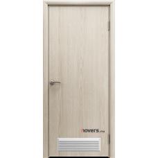 Дверь пластиковая Aquadoor Скандинавский дуб с вентиляционной решеткой
