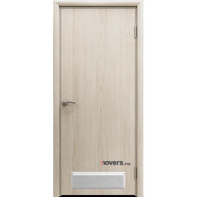 Дверь пластиковая Aquadoor (Аквадор) Скандинавский дуб с вентиляционной решеткой