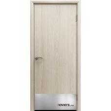 Дверь пластиковая Aquadoor Скандинавский дуб с отбойной пластиной