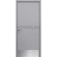 Дверь пластиковая Aquadoor (Аквадор) Серый RAL 7035 с отбойной пластиной