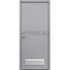 Дверь пластиковая Aquadoor (Аквадор) Серый RAL 7035 с вентиляционной решеткой