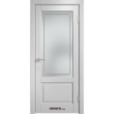 Дверь комбинированный массив Арсенал Мадера Микс Ол 83 ДОФ Белый грунт со стеклом матовым