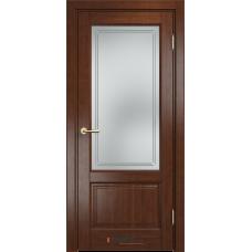 Дверь комбинированный массив Арсенал Мадера Микс Ол 83 ДОФ Коньяк со стеклом матовым